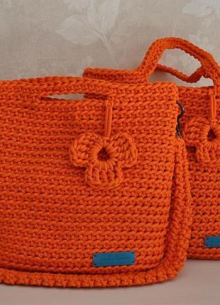 """Сумка шоппер """"апельсин"""" hand made"""