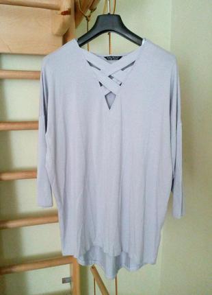 Лонгслив,трикотажная блуза свободного кроя  10