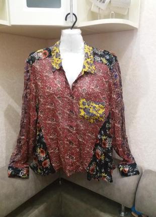 Блузка в стиле bohho-             zara