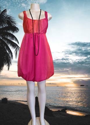 Нарядное вечернее платье на стройную девушку из натурального шелка