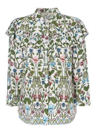 Очаровательная цвееточная рубашка с рюшей tu