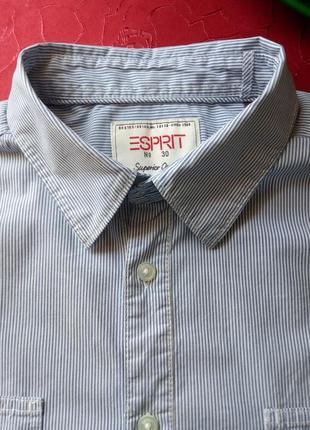 Распродажа!  мужская натуральная рубашка в мелкую полоску