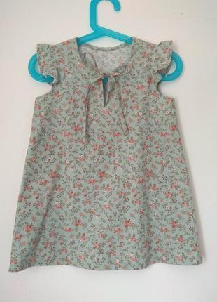 Сарафан платье детское хлопковое в мелкий цветочек размер 3 года 98 см