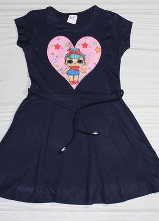 Летнее синее платье с мигающим элементом, турция