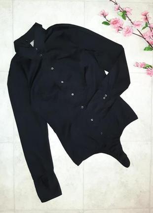 1+1=3 фирменное черное боди - блуза seidensticker, размер 44 - 46