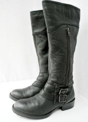 Стильные фирменные демисезонные сапоги john hopkin ny из натуральной кожи. размер 40.