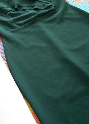 Платье миди зеленое  bardot от quiz5 фото