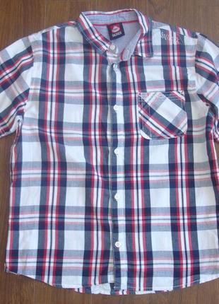 Фирменная легкая рубашка мальчику 12-13 лен