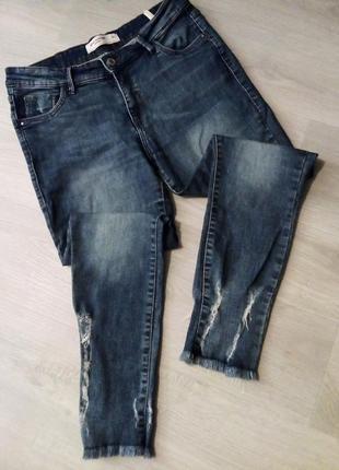 Брендовые укороченные джинсы pink woman1 фото