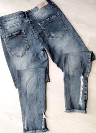 Брендовые укороченные джинсы pink woman6 фото