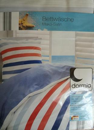 Постельное белье, полуторный комплект пододеяльник + наволочка, dormia германия