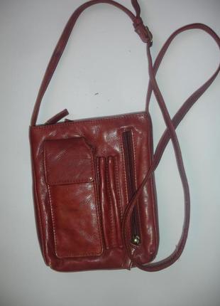 Фирменная eastwest оригинал кожаная сумка через плечо4 фото