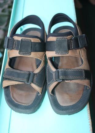 Крутые кожаные мужские спортивные босоножки сандалии hush puppies