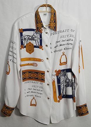 Tru, рубашка блуза вискоза винтаж, made in greece
