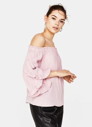 Свободная блуза открытые плечи