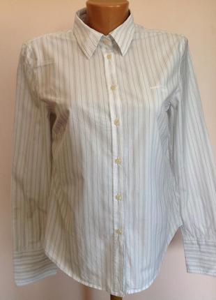 Брендовая офисная рубашка в полоску/m/ brend marc o polo