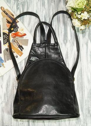 Lanchas paris. кожа. стильный городской рюкзак