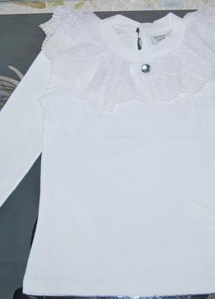 Школьная блуза турция breeze кружевной воротник