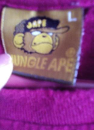 Безшовная футболка-djungle ape- l6 фото