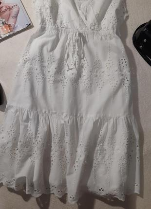 Красивая стильное котоновое платье. размер l3 фото