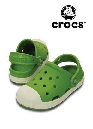 Салатовые crocs bump it clog с12 28-29 унисекс  идеал