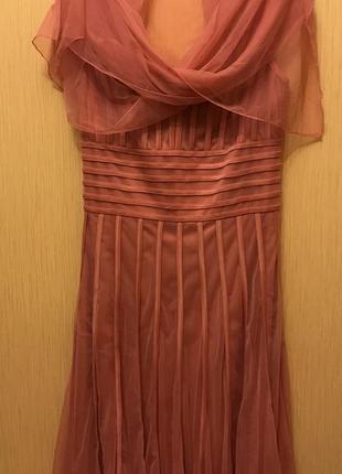 Нарядное платье персикового цвета ри46/48 цена 490 грн