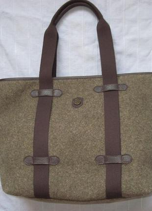 Bonfanti большая сумка (кожа, войлок)