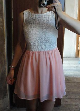 Нежное шифоновое платье сарафан от new look