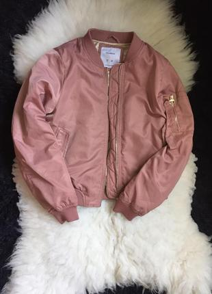 Пудрово-пыльный бомбер куртка pull&bear
