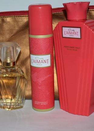 Coty l'aimant parfum de toilette 30 мл парфюмерный набор с косметичкой оригинал винтаж