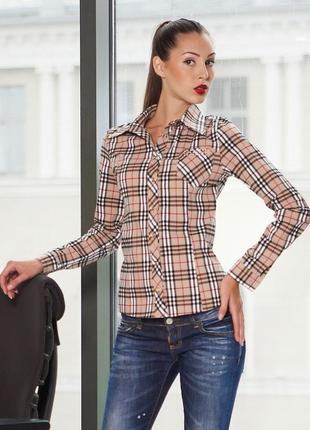 Блузка glem в стиле burberry 103
