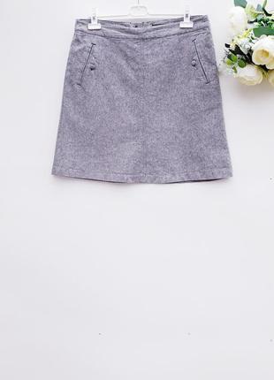 Натуральная юбка миди с карманами юбка трапеция льняная юбка