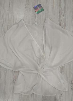 Сатиновая блуза на запах2 фото