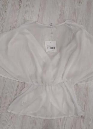Сатиновая блуза на запах3 фото