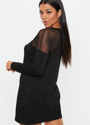 Оверсайз платье с прозрачной встивкой2 фото