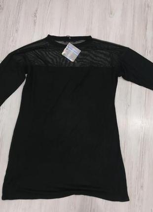 Оверсайз платье с прозрачной встивкой5 фото