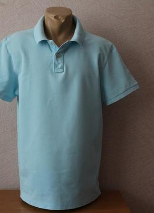 H&m-классическая, голубая тенниска, поло в идеале