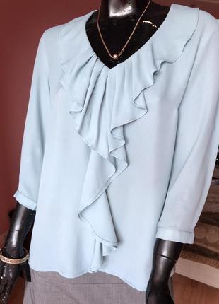 Блуза с рюшем, размер 48-50