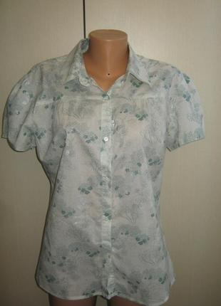 Шикарная летняя блуза рубашка 100% котон состояние новой