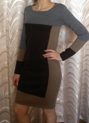 Платье на зиму с длинным рукавом