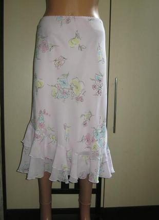 Шикарная летняя юбка 100% вискоза на подкладке