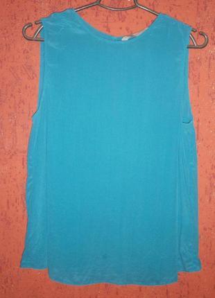 Блуза шелк без рукавов с застежкой сзади