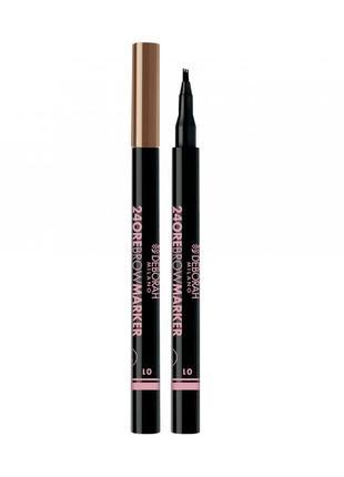 #розвантажуюсь маркер для брів deborah 24ore eyebrow marker (03)