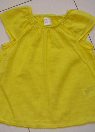 Хлопковая блуза 18-24мес