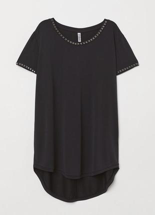 Чёрная футболка из вискозы от h&m