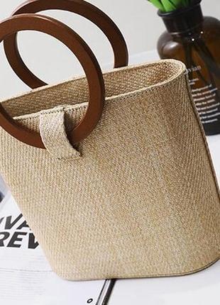 Сумка соломенная, сумка плетёная.