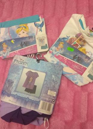 116/122р. футболка+шорты для девочки disney frozen, princess