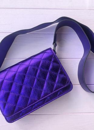 Сумка женская фиолетовая яркая