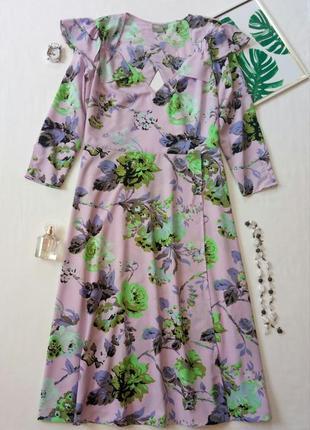 Невероятное платье мили с запахом,  платье с цветочным притом