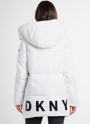 Новый пуховик одеяло dkny (парка, куртка) 90% пух оригинал трансформер (жилет)